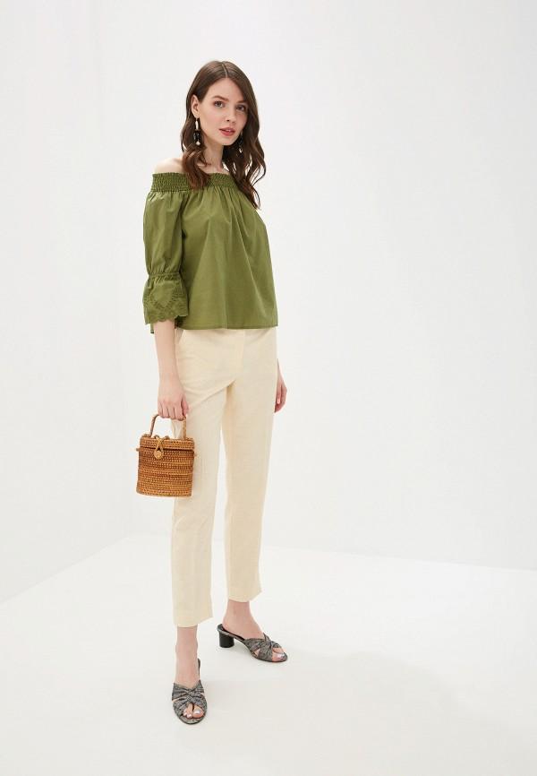 Фото 2 - женскую блузку Tom Tailor Denim зеленого цвета