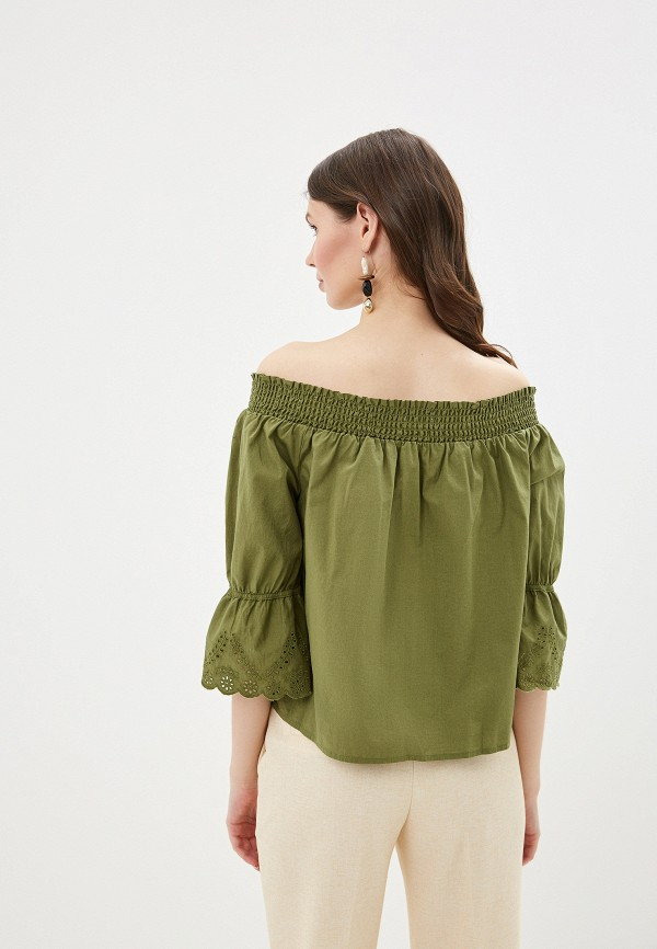 Фото 3 - женскую блузку Tom Tailor Denim зеленого цвета