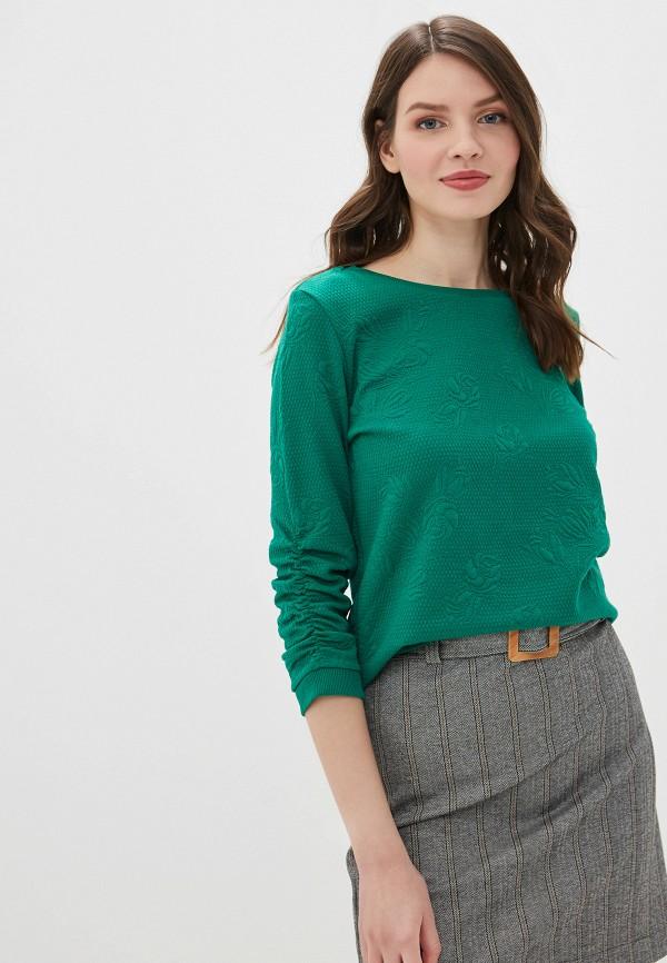 женский свитшот tom tailor, зеленый