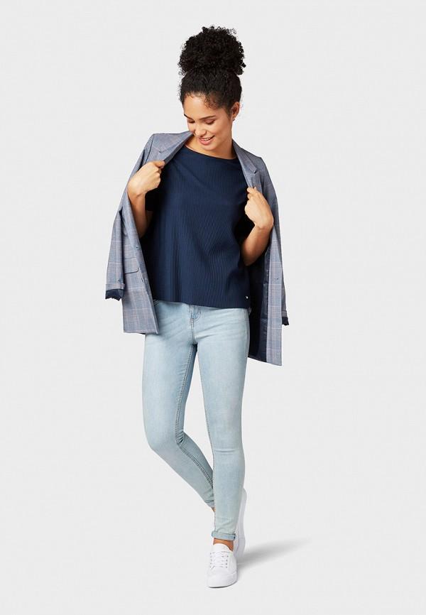 Фото 2 - женскую футболку Tom Tailor Denim синего цвета