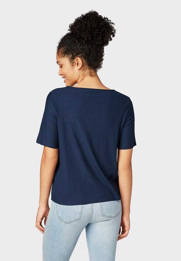 Фото 3 - женскую футболку Tom Tailor Denim синего цвета