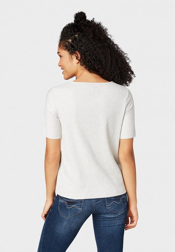 Фото 3 - женскую футболку Tom Tailor Denim белого цвета
