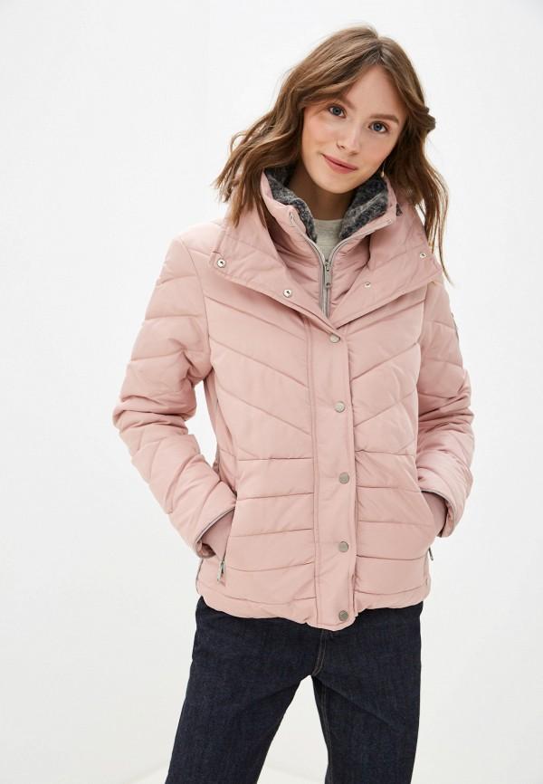 женская куртка tom tailor, розовая