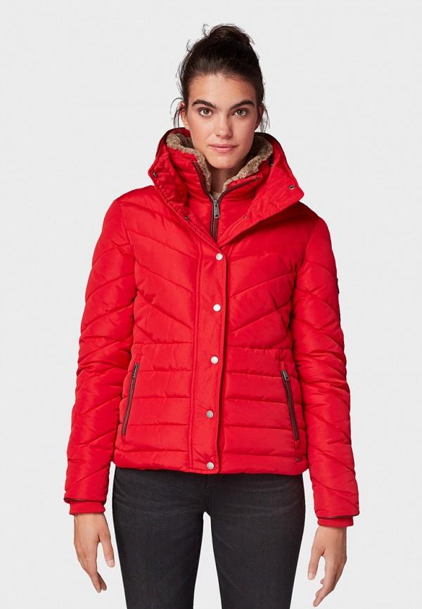 женская куртка tom tailor, красная