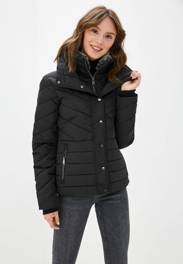 женская куртка tom tailor, черная