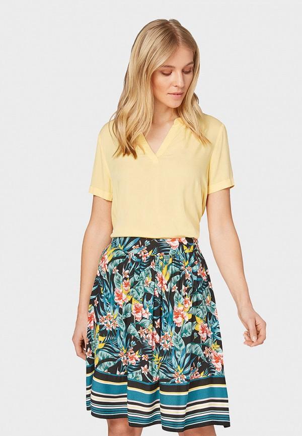 Фото - Женскую блузку Tom Tailor желтого цвета