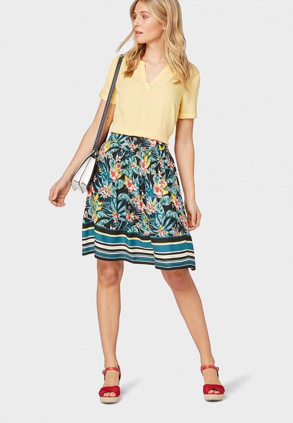 Фото 2 - Женскую блузку Tom Tailor желтого цвета