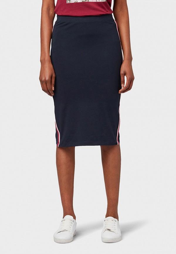 Фото - Женскую юбку Tom Tailor синего цвета