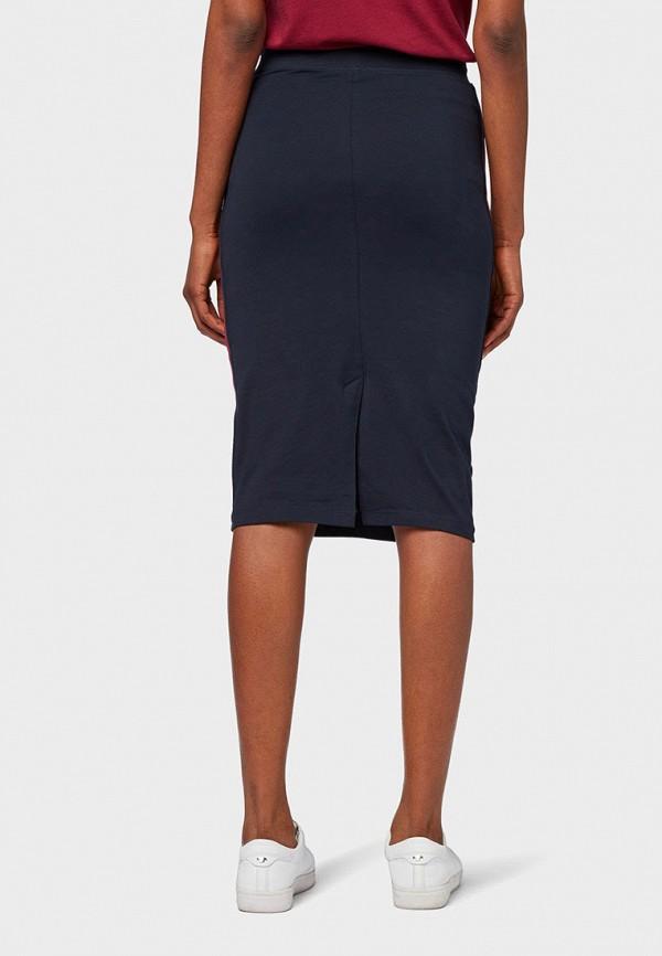 Фото 3 - Женскую юбку Tom Tailor синего цвета