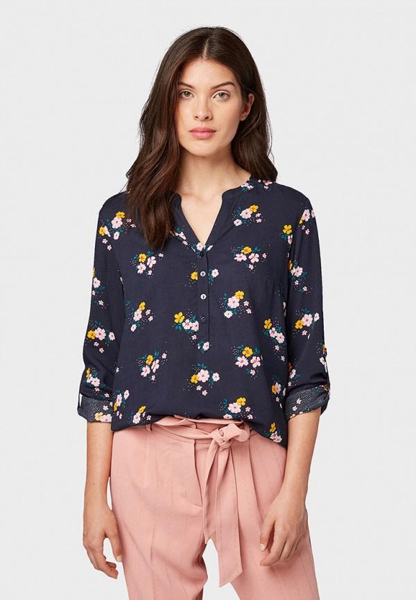 Фото - Женскую блузку Tom Tailor синего цвета