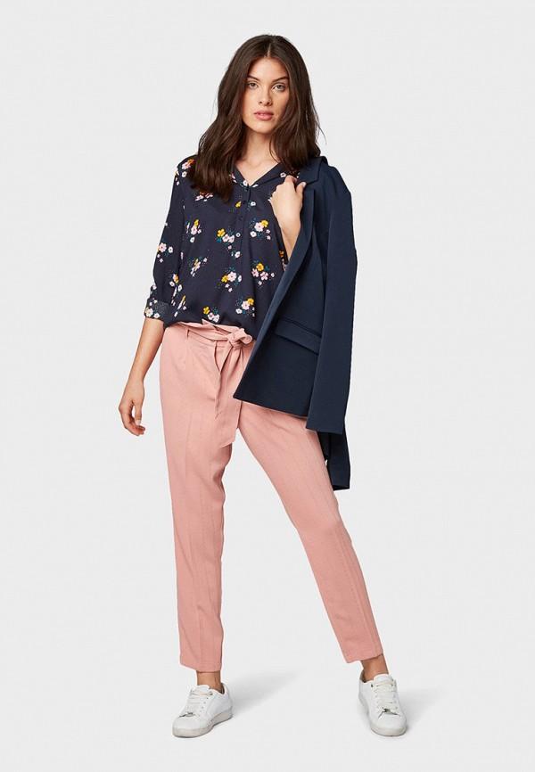 Фото 2 - Женскую блузку Tom Tailor синего цвета