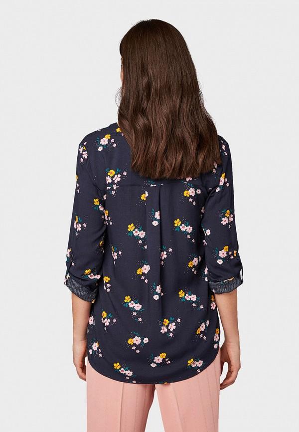 Фото 3 - Женскую блузку Tom Tailor синего цвета