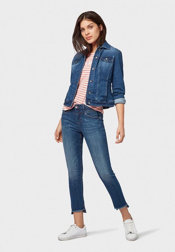 Фото 2 - Женские джинсы Tom Tailor синего цвета