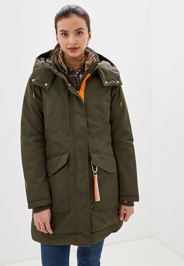 женская утепленные куртка tom tailor, хаки