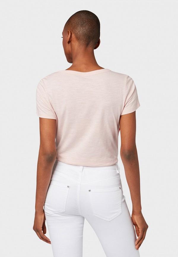 Фото 3 - женскую футболку Tom Tailor розового цвета