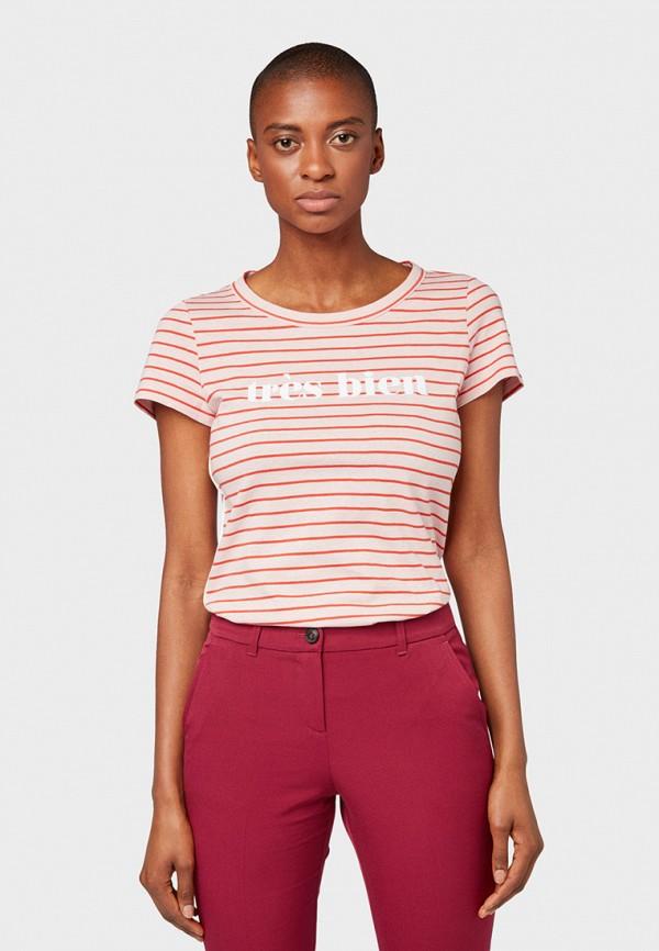 Фото - женскую футболку Tom Tailor красного цвета