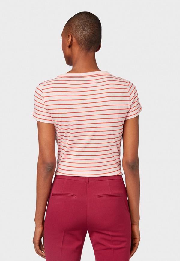 Фото 3 - женскую футболку Tom Tailor красного цвета