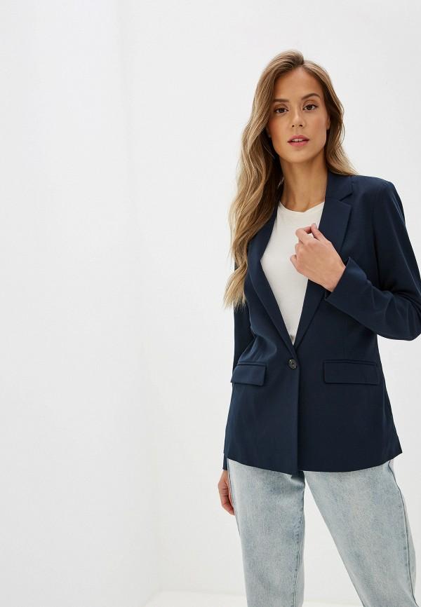 Фото - женский пиджак Tom Tailor синего цвета