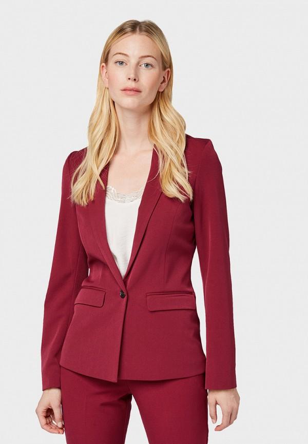 женский пиджак tom tailor, красный