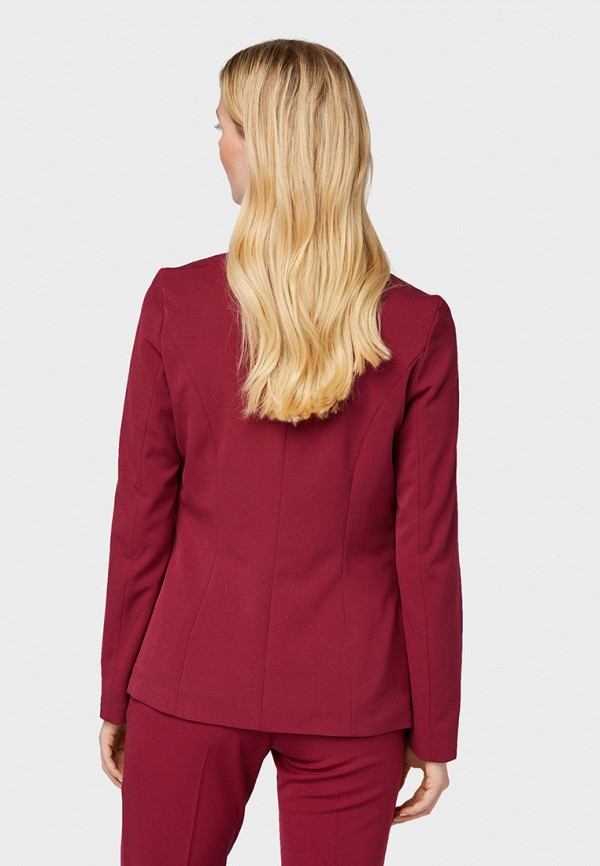 Фото 3 - женский пиджак Tom Tailor красного цвета