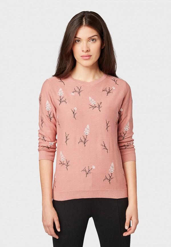 женский джемпер tom tailor, розовый