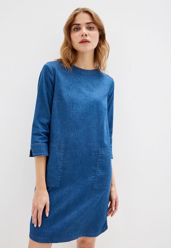 женское повседневные платье tom tailor, синее