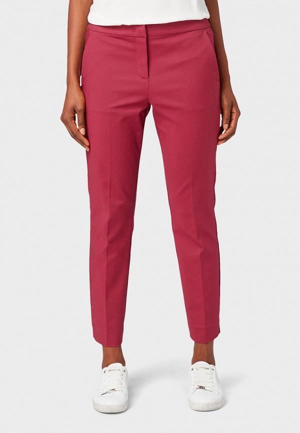 женские брюки tom tailor, красные