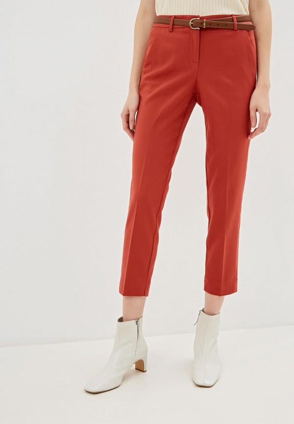 женские повседневные брюки tom tailor, красные