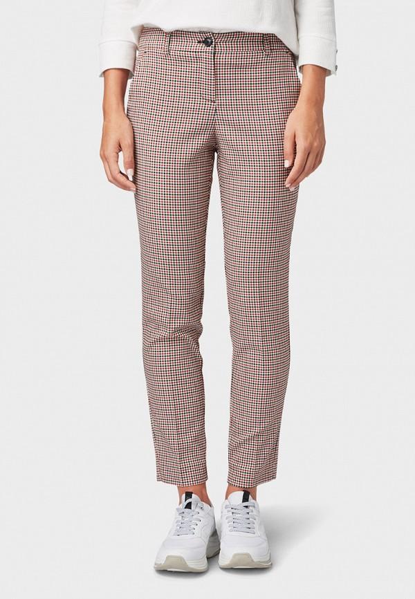 женские повседневные брюки tom tailor, розовые