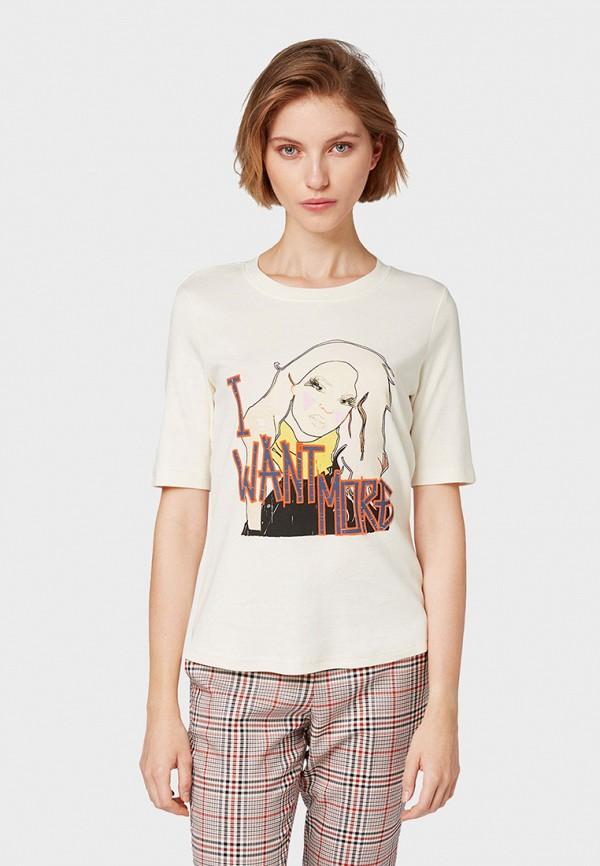 Фото - женскую футболку Tom Tailor белого цвета