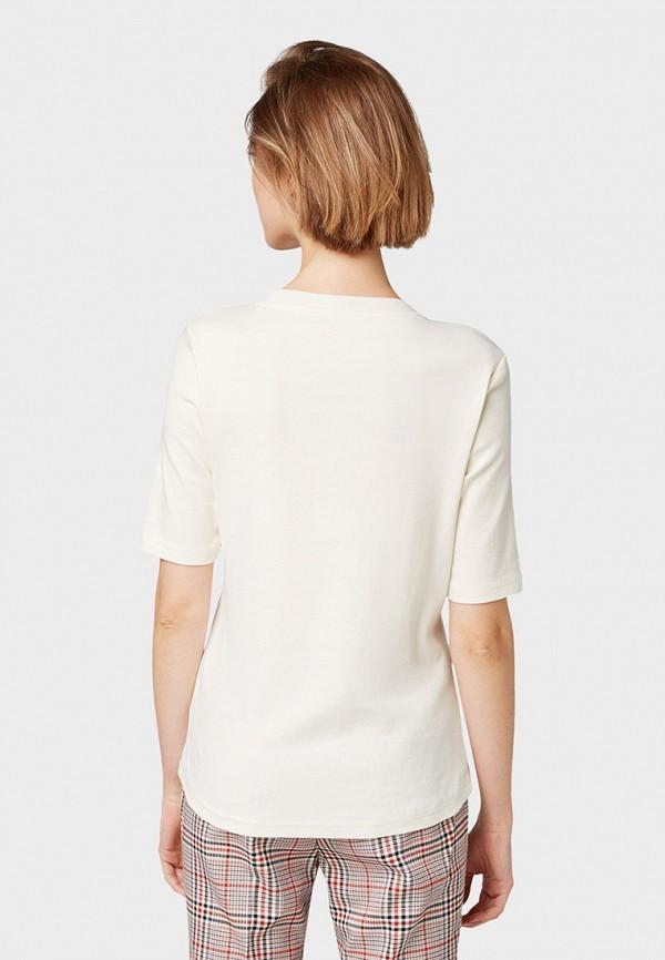 Фото 3 - женскую футболку Tom Tailor белого цвета