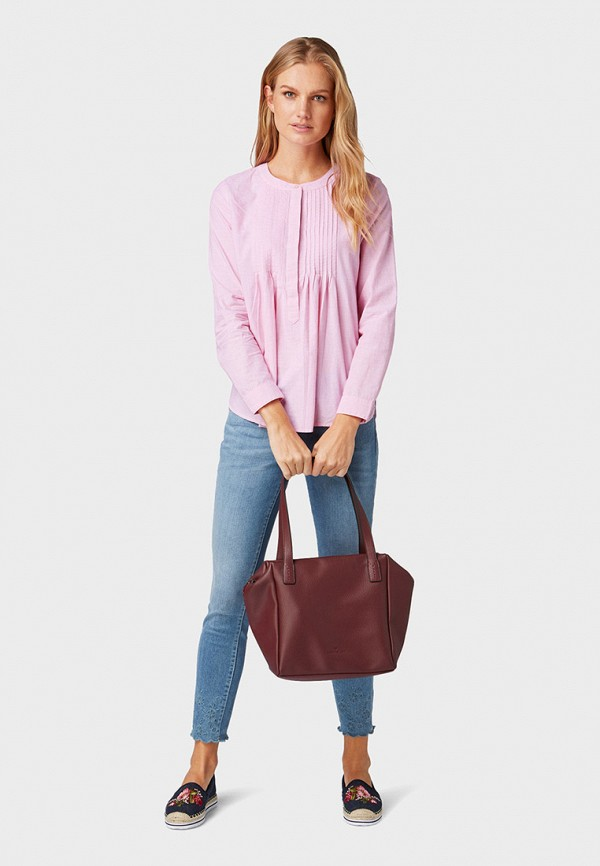 Фото 2 - женскую блузку Tom Tailor розового цвета