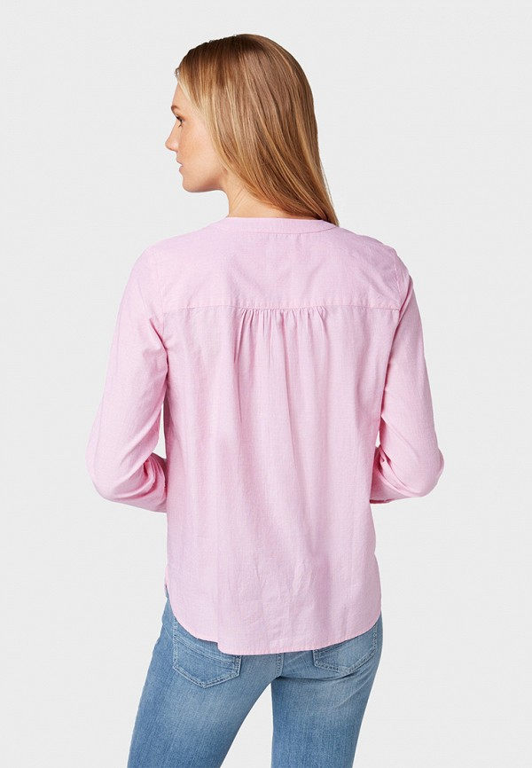 Фото 3 - женскую блузку Tom Tailor розового цвета