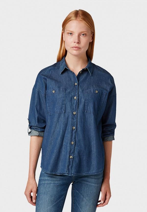 Рубашка джинсовая Tom Tailor Tom Tailor TO172EWGSJF2 рубашка regular tom tailor р s int 46 ru 37