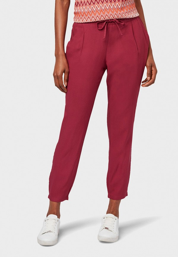 женские брюки tom tailor, розовые