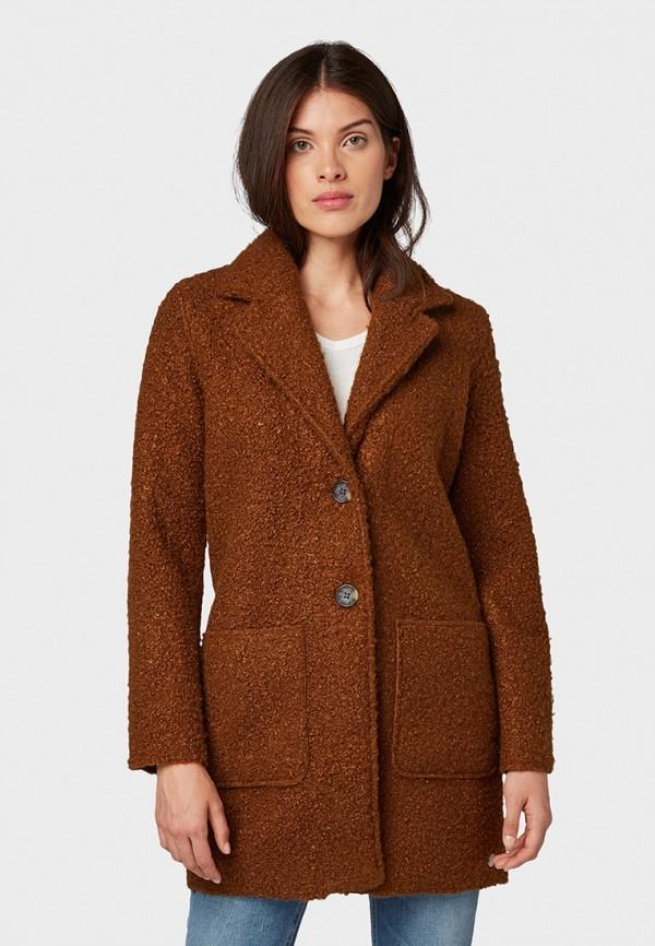 Фото - женское пальто или плащ Tom Tailor коричневого цвета