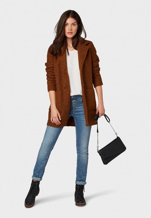 Фото 2 - женское пальто или плащ Tom Tailor коричневого цвета