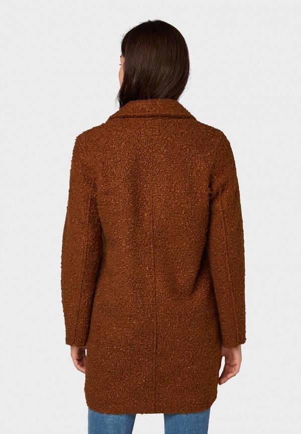 Фото 3 - женское пальто или плащ Tom Tailor коричневого цвета