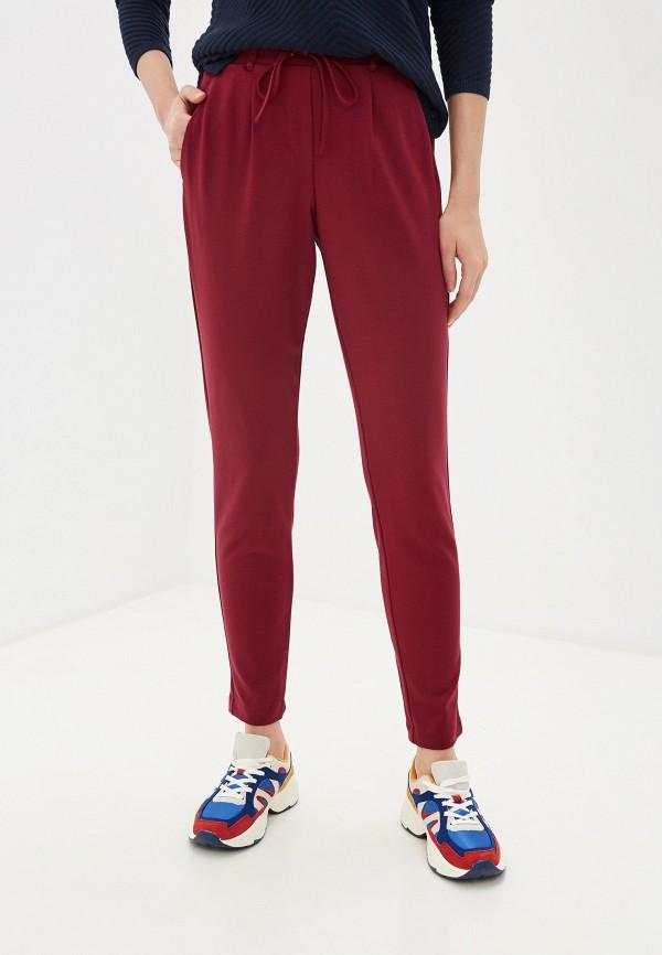 женские повседневные брюки tom tailor, бордовые