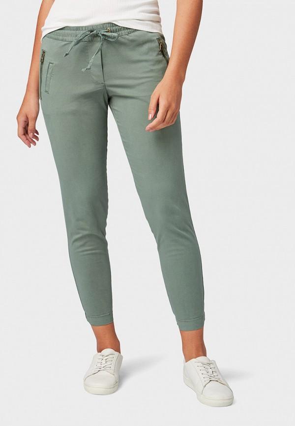 женские повседневные брюки tom tailor, зеленые