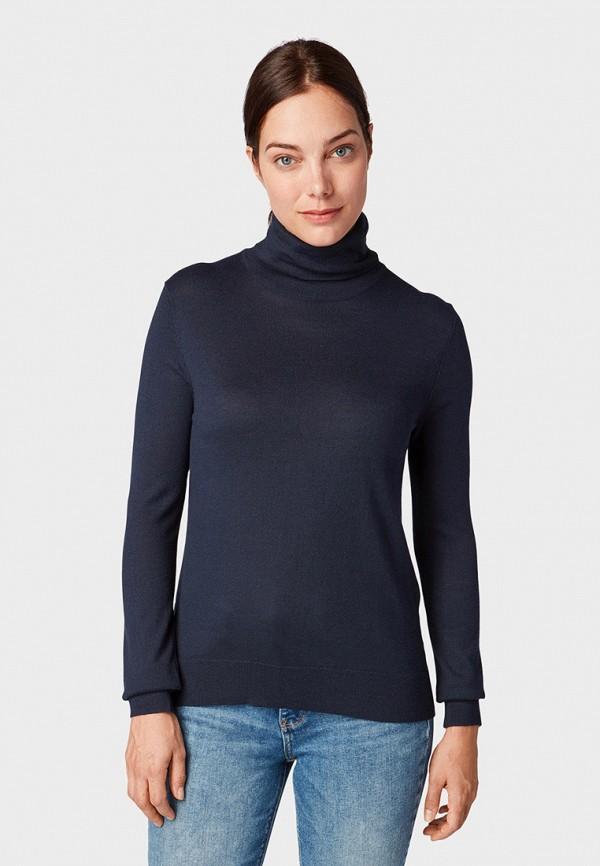 женская водолазка tom tailor, синяя