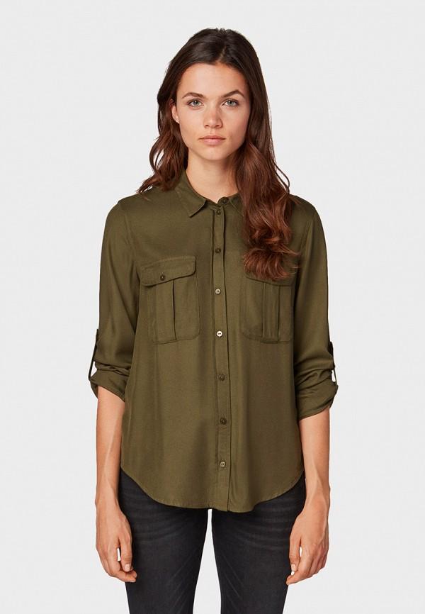 женская блузка tom tailor, хаки