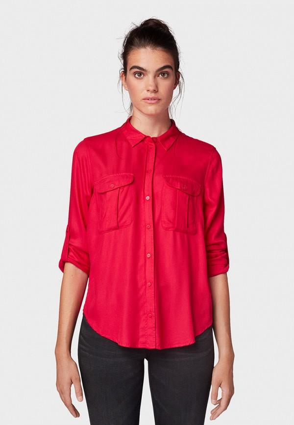 женская блузка tom tailor, розовая