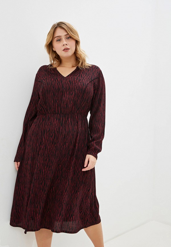 женское повседневные платье tom tailor, бордовое