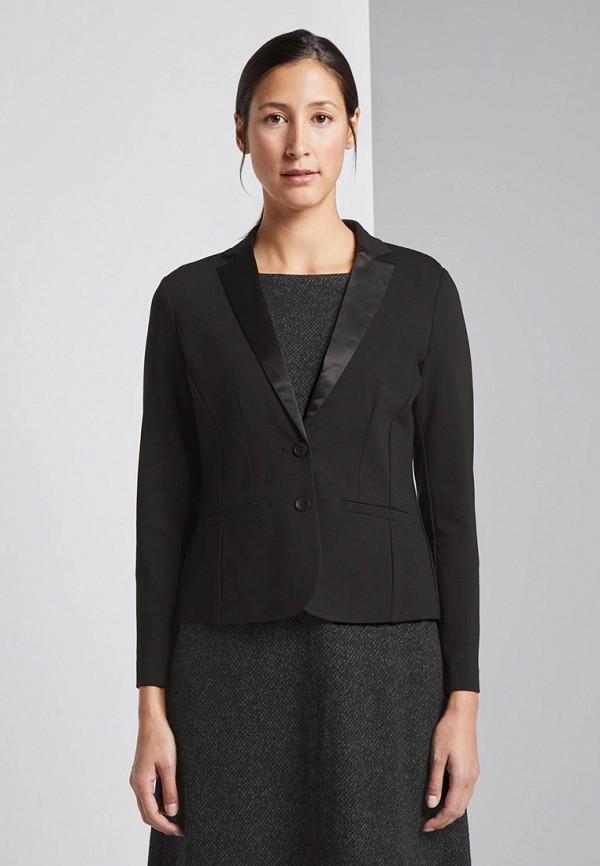 женский пиджак tom tailor, черный