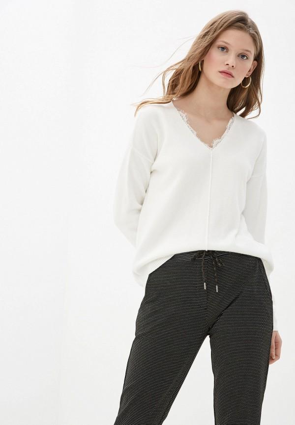 женский пуловер tom tailor, белый