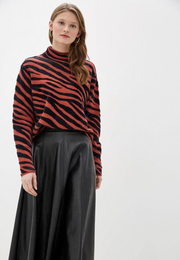 женский свитер tom tailor, коричневый