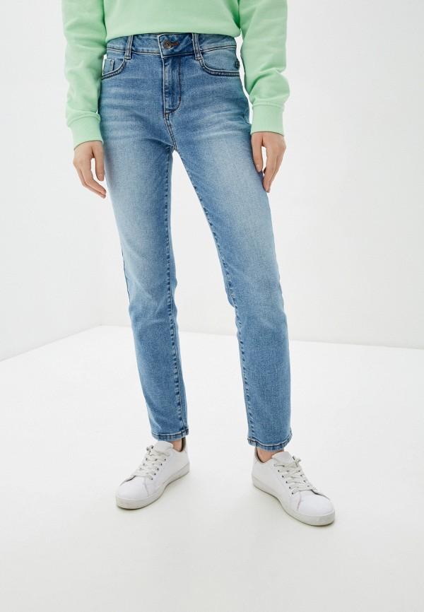 женские прямые джинсы tom tailor, голубые