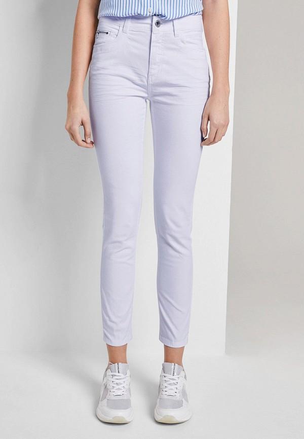 женские повседневные брюки tom tailor, фиолетовые