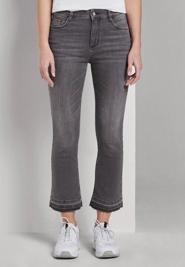 женские джинсы клеш tom tailor, серые